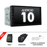 Obd+carplay+dvr+7 Inch Android 10 Car Stereo Gps Radio Player Audio Double 2din