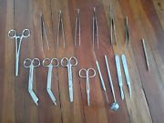 Vintage Lot Of 16 Pcs , Surgical Medical Tools Instruments, Stainless Steel