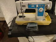 Vintage Brother Project 111 Blue And Grey Sewing Machine The Motor Turns Over