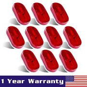 10pc 4 X 2 Red 6 Led Side Marker Camper Trailer Rv Boat Light Clearance Lamps