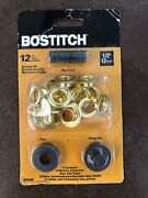 Bostitch Grommet Kit 12 Grommets 1/2 Hole Punch, Flaring Tool, Base 12 Mm Ojal