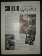 1941 Safety Chute Vintage Switlik Parachute And Equipment Co Trade Print Ad