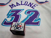 The Utah Jazz In The Nba Karl Malone Autograph Throwback Jerseys