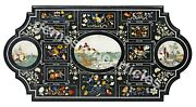 52x38 Black Marble Conference Table Top Inlay Floral Art Housewarm Gift Decor