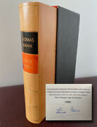 Mann Thomas 1875-1955 - Limited Edition Book Signed Andldquoconfessions Felix Krull