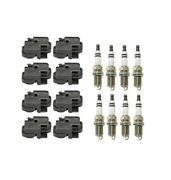 Genuine 8 Ignition Coils And 8 Spark Plugs Kit For Mercedes C140 C208 W210 W163 V8
