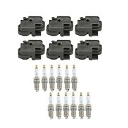 Genuine 6 Ignition Coils And 12 Spark Plugs Kit For Mercedes-benz W203 2.6l V6