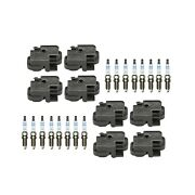 Genuine 8 Ignition Coils And 16 Spark Plugs Kit For Mercedes W203 C209 R171 V8