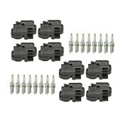 Genuine 8 Ignition Coils And 16 Spark Plugs Kit For Mercedes C215 W463 R230 V8
