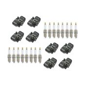 Genuine 8 Ignition Coils And 16 Spark Plugs Kit For Mercedes C215 W210 W163 V8