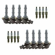 Bosch 8x Ignition Coils And 8x Double Platinum Spark Plugs Kit For Mb C216 W221
