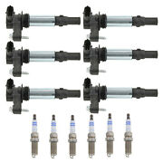 Bosch Set Of 6 Ignition Coils And 6 Wire Double Platinum Spark Plugs For 9-3 06-09