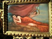 Antique Germany Porcelain Plaque Hand Painting Signed
