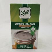Ball Wide Mouth Lids And Rings Bands For Jars Canning New In Box 12 Total