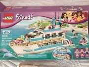 Lego Friends Dolphin Cruiser 41015 With Box, Manuals, Figurines 612 Pcs
