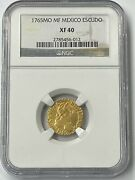 1765 Mo Mf Mexico Charles Iii Gold Escudos Ngc Xf40 Mexico City Only 7 Graded