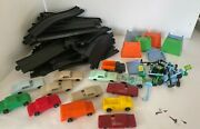 Vintage F And F Mold And Die Works Plastic Toy Car Dayton Ohio With Track Lot