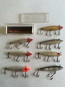 """Lot Of 7 3.5"""" Vintage Used Mirrolure Lures Lands Bait Bass Freshwater Fishing"""