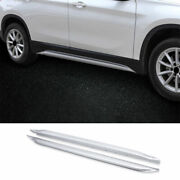 For Bmw X1 F48 2016-2021 Abs Chrome Exterior Door Panel Trim Side Skirts 2pcs
