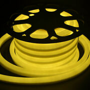 164ft Dc12v Yellow Led Neon Rope Lights For Commercial Party Outdoor Decor - Usa