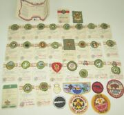 Vtg New 1957 Boy Scout Lot Patches Merritt Badges Attached To Original Cards 30+