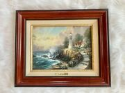 Thomas Kinkade Andldquothe Light Of Peaceandrdquo Lithograph Framed And Matted With Coa