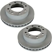 Pair Set Of 2 Front Brake Rotors Acdelco Gm Oe For Chevy Gmc 8500 Lb Gvwr C5f