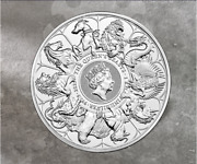 2021 - 2 Oz .9999 Fine Silver Queenand039s Beasts Collection Completer Coin In Stock
