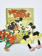 Walt Disney Studios Fred Voges / Mickey Mouse Waddle Book 1st Edition 1934