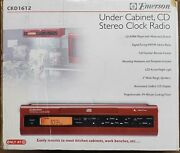 Emerson Ckd1612 Under Cabinet Cd Stereo Clock Radio - Red - New Open Box
