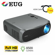 8500lumen Native 1080p Projector 4k Video Office Party Meeting W/ 120 Screen