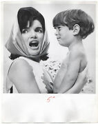 Mark Shaw / Photograph Of Jackie Kennedy And John Jr In Palm Beach 1963 1964