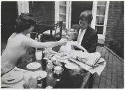 Mark Shaw / Photograph Of John Jackie And Caroline Kennedy At Their Georgetown