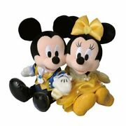 Beauty And The Beast Mickey Mouse And Minnie Mouse Stuffed Toy Set 31st Ann...