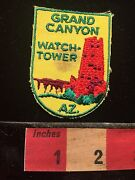 Vtg Stained Az Grand Canyon Watchtower Watch Tower Patch National Park 60oo