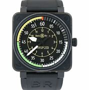 Bell And Ross Br01-92 Airspeed Black Pvd 46mm Limited Steel Black Rubber Watch