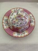 Minton Pink Cockatrice Rare Shallow Bowl W/dome Lid For Scones Muffin Butter