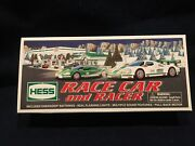 New In Box Hess 2009 Toy Truck Race Car And Racer - Lights And Sound