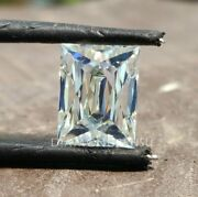 Antique 2.24 Ct Criss Cut Loose Moissanite For Vintage Style Engagement Rings
