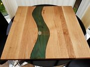 Green Resin Acacia Wooden Dining Center Table Top Office And Home Décor Gifts Tops