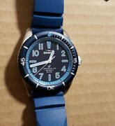 Shinola The Duck Watch With 42mm Navy Blue Face And Blue Rubber Strap