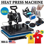 8 In 1 Combo Multifunctional Heat Press Machine Swing Away Printing Sublimation