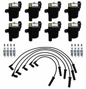 Ignition Wires 8 Coils 8 Spark Plugs Kit Acdelco For Buick Chevy Gmc Isuzu V8