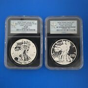 2013 W Ngc Pf69 Sp70 Silver Eagle Rev Proof Enhanced Finish Early Releases Set