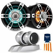 Fusion Sg-flt772spc 7.7'' Sports Grey Chrome Tower Speakers, Rgbw Led With