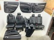 2011-2020 Dodge Durango R/t Front Rear Third Row Seat Set Black Leather W/ Red