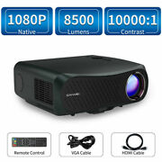 8500lumen Led Native 1080p Projector 4k Home Theater Video Hdmi W/ 120 Screen