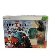 Disney Infinity 1.0 Xbox 360 Starter Pack Sully Jack Sparrow Mr. Incredible Disc