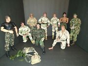 Lot Of 9 Gi Joe 12 Inch Posable Action Figures Hasbro 21st Century And Es Toys Lot