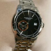 Hamilton Railroad Automatic Watch With 42mm Black Face And Silver Breclet
